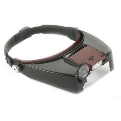Head Band Lamp Magnifier with LED Light