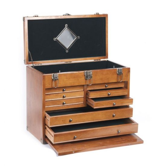 wooden tool chest wood toolmakers 39 cabinet for engineering tools. Black Bedroom Furniture Sets. Home Design Ideas