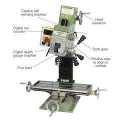 WM 16 Milling Machine - Variable Speed Mill