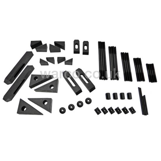 Clamping Kit for Small Milling Machines - 54 Piece