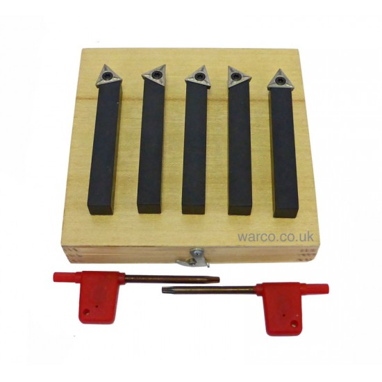 Indexable Lathe Tools - 5 Piece Set