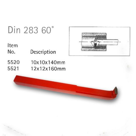 Din 283 60deg Carbide Tipped Tools