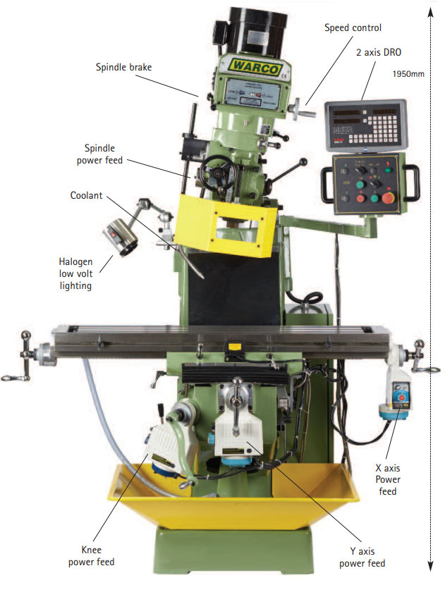 Warco 4VS Turret Milling Machine