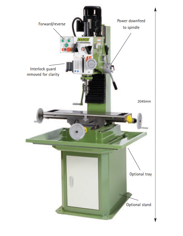 Warco GH Universal Milling Machine