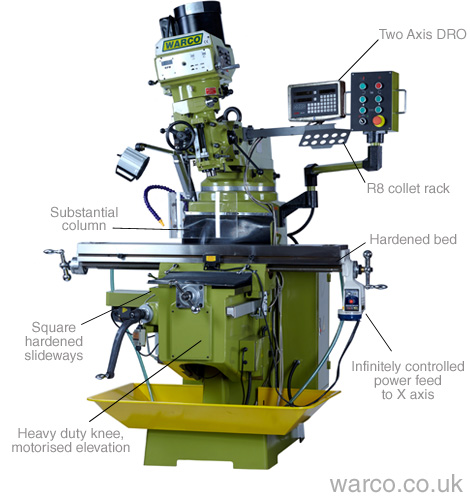 Warco WM40 Turret Milling Machine