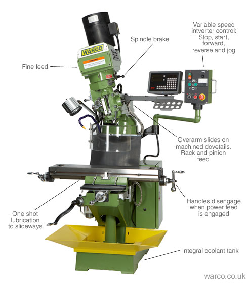 Warco WM-20 Milling Machine