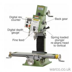 WM 18 Milling Machine - Variable Speed Mill