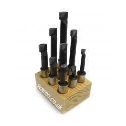 Carbide Tipped Boring Bar Milling Cutter - 9 Piece Set
