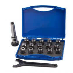ER 25 Collet Chuck & Collets 3MT - 16 Piece Set
