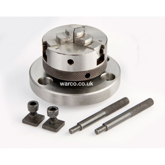 3 Jaw Self Centering Chuck - 50mm for Rotary Table
