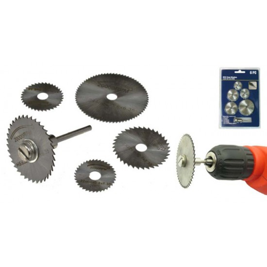 Rotary Saw Blade Kit 6PC HSS