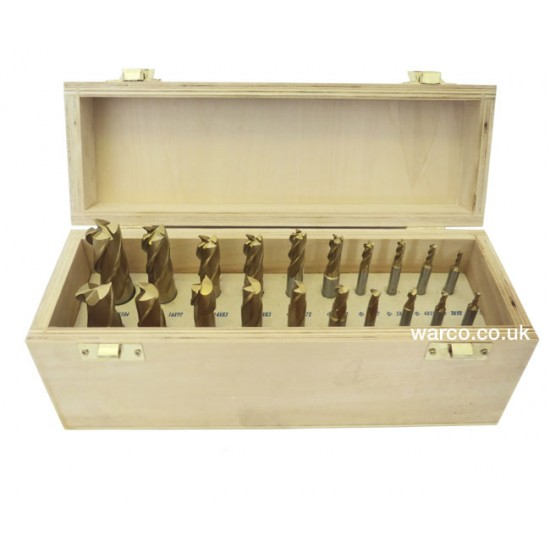 Set of 10 End Mills & 10 Slot Drills