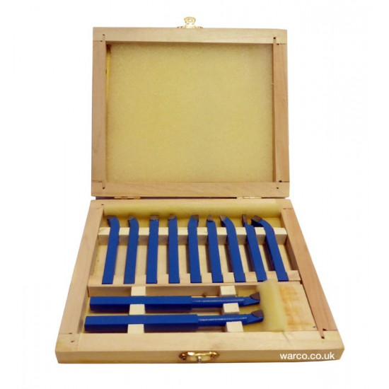 Lathe Tools 11 Piece Carbide Tipped TCT Turning Tool Sets