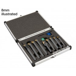 Indexable Lathe Tools - 9 Piece Set 8mm 10mm 12mm