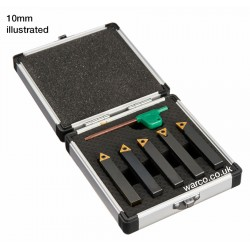 Indexable Lathe Tools - 5 Piece Set 8mm 10mm 12mm 16mm