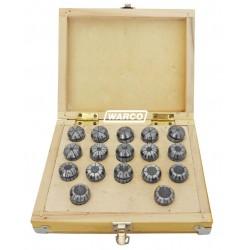 ER 25 Collets - 17 Piece Box Set