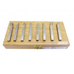 HSS Ground Lathe Tools - 8 Piece Set 6mm 8mm 10mm 12mm