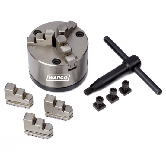 3 Jaw Self Centering Chuck & Backplate - 80mm for Rotary Tables