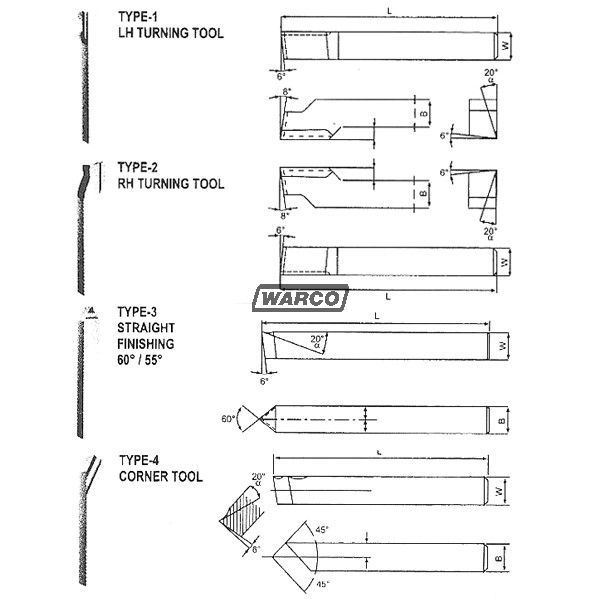 8 Piece Set 8mm 10mm /& 12mm HSS Ground Lathe Tools Available in Sizes 6mm 8mm