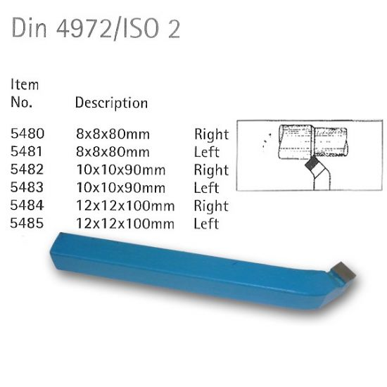 Din 4972/ISO 2 Carbide Tipped Tools