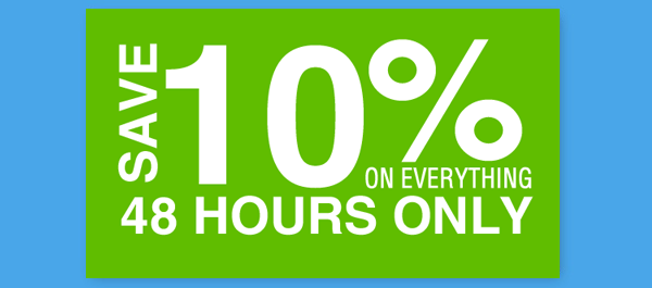 Save 10% now