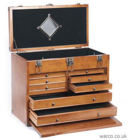 Wooden Toolmakersu0027 Chest - Engineering Tools Storage  sc 1 st  Warco & Wooden Tool Chest | Wood Toolmakersu0027 Cabinet for Engineering Tools