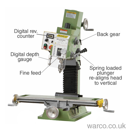 Warco WM18 Milling Machine