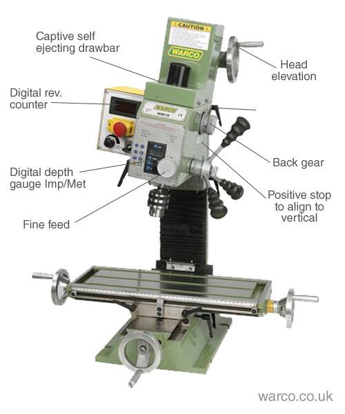 Warco WM16 Milling Machine