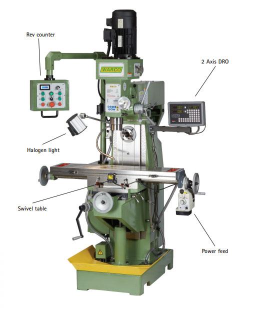 Warco WM 50 Horizontal Vertical Milling Machine